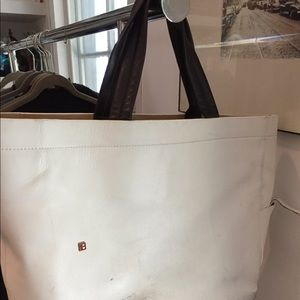 Bally Switzerland leather tote bag.